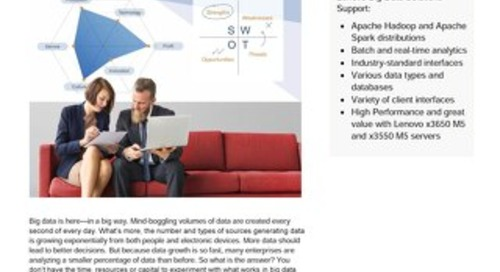 Lenovo Big Data Reference Architectures