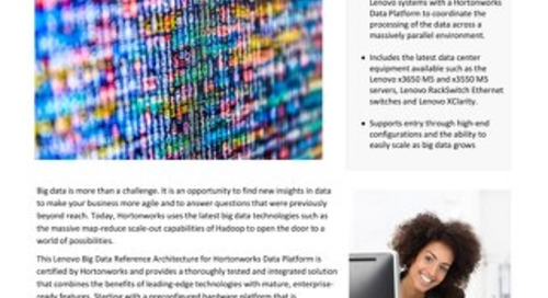 Lenovo Big Data Reference Architecture for Hortonworks Data Platform