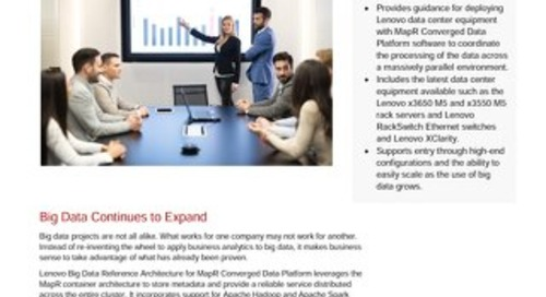 Lenovo Big Data Reference Architecture for MapR Converged Data Platform