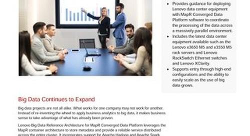Lenovo Big Data Reference Architecture for MapR Converged Data Platform