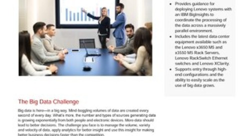 Lenovo Big Data Reference Architecture for IBM BigInsights