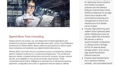 Lenovo Cloud Reference Architecture for VMware SDDC