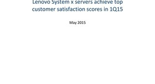 TBR - Lenovo Outscores Competitors in x86-Based Server Customer Satisfaction 1Q15