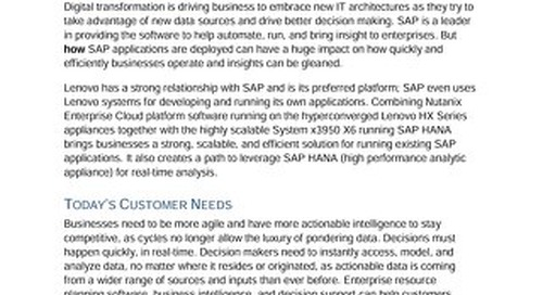 Moor Insights - Lenovo Scalable Solutions for SAP Applications