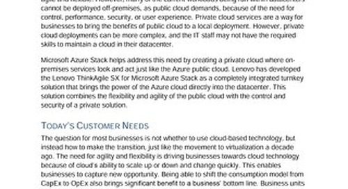 Moor Insights - Lenovo Brings Azure Stack On-Premises