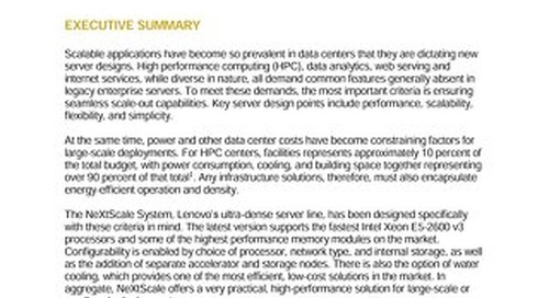 Intersect360 Research - Scalable Performance - No-Frills Clusters for Power and Efficiency