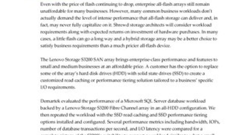 Demartek - Accelerating SQL Server Database Performance with the Lenovo Storage S3200 SAN Array