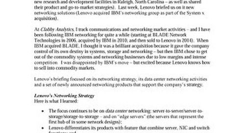 Clabby Analytics - Lenovo's Virtualized, Cloud-Optimized Data Center Networking