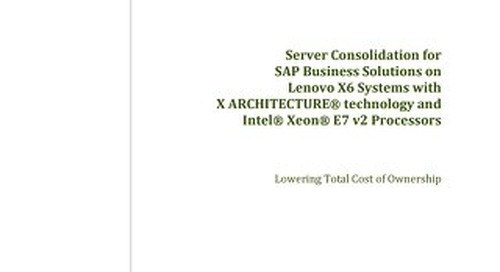 Alinean - Server Consolidation for SAP Business Solutions on Lenovo X6 Systems