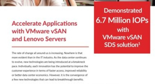Kronsys - Accelerate Applications with VMware VSAN and Lenovo Servers