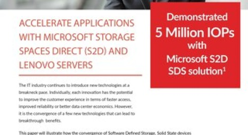 Kronsys - Accelerate Applications With Microsoft Storage Spaces Direct and Lenovo Servers