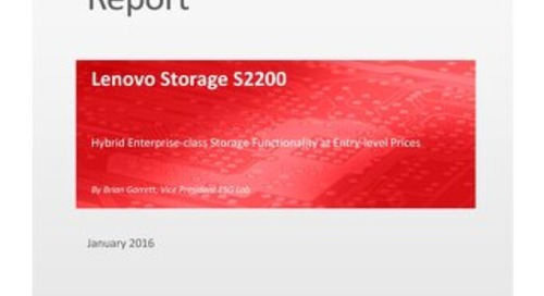 ESG Lab Validation - Lenovo Storage S2200