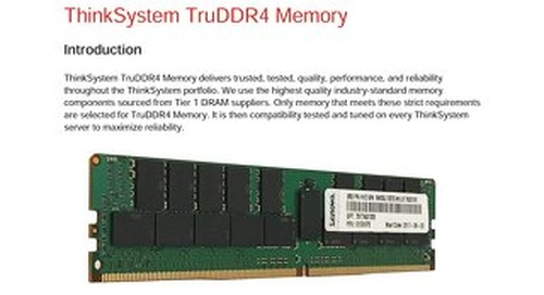 Thinksystem Options - Memory