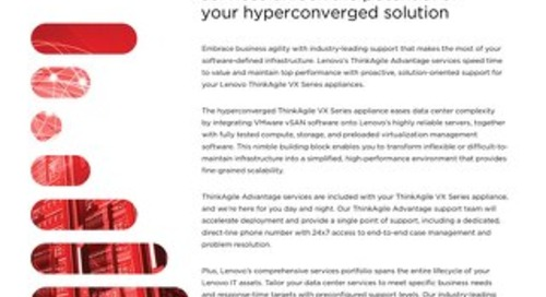 ThinkAgile VX Series Appliance Services