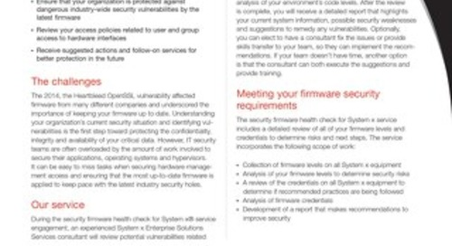 Security Firmware Health Check for System x