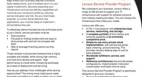 Lenovo Service Provider Program