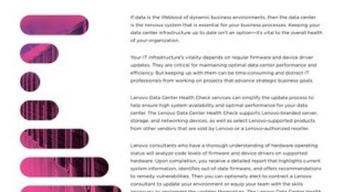 Lenovo Data Center Health Check