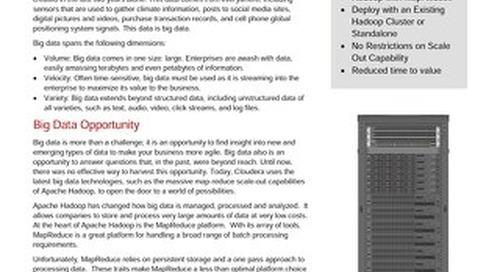 Lenovo Big Data Configuration for Cloudera Enterprise with Apache Spark