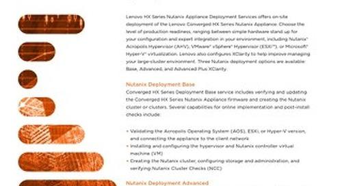 HX Series Nutanix Appliance Deployment Services