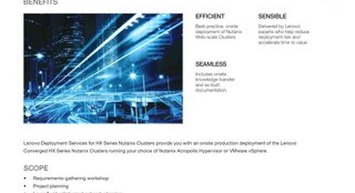 Deployment for HX Series Nutanix Clusters
