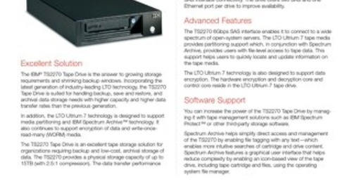 Storage TS2270 Tape Drive