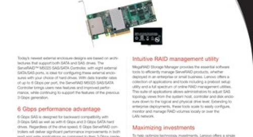 ServeRAID M5025 SAS SATA Controller