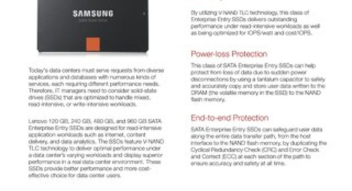 SATA Enterprise Entry SSDs