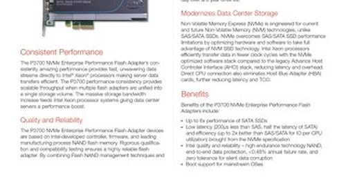 P3700 NVMe Enterprise Performance Flash Adapters