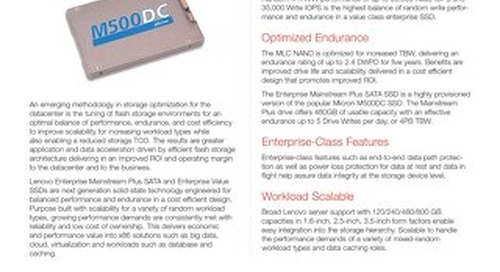 M500 Enterprise Mainstream Plus SATA and Enterprise Value SSDs
