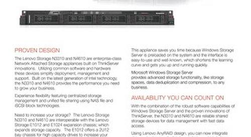 Lenovo Storage N3310 & N4610