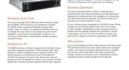 Lenovo Storage S2200