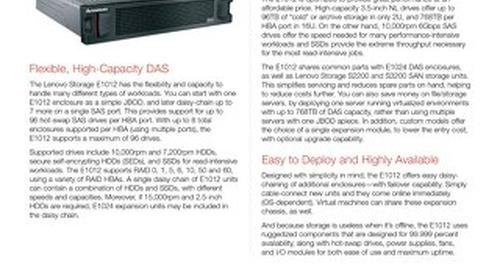 Lenovo Storage E1012