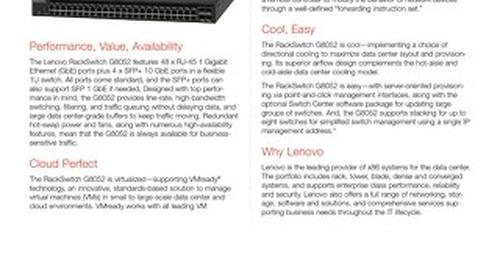 Lenovo RackSwitch G8052