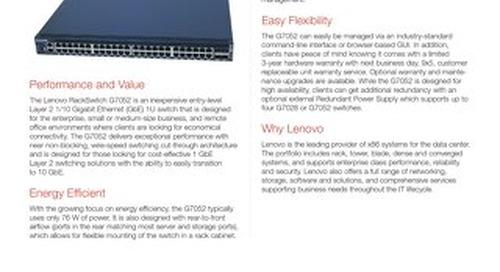 Lenovo RackSwitch G7052