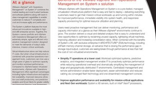 VMware vSphere with Operations Management on System x