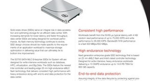 S3700 SATA MLC Enterprise SSDs