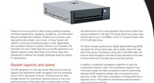 Half High LTO Gen 5 SAS Tape Drive