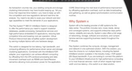 Flex System IB6131 InfiniBand Switch