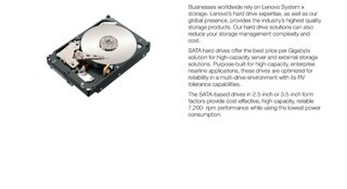 Enterprise SATA HDs
