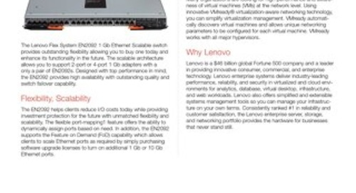 Flex System EN2092 1 Gb Ethernet Scalable Switch