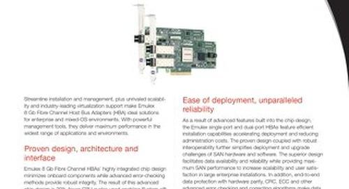 Emulex 8GB Fibre Channel Host Bus Adapters