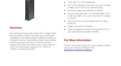 DPI Universal Rack Power Distribution Units