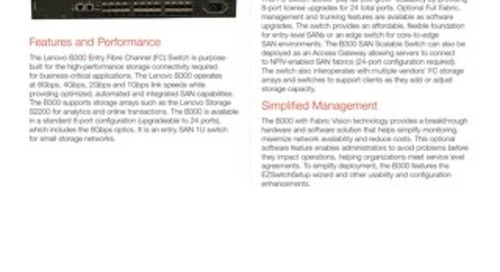 B300 Fibre Channel Switch