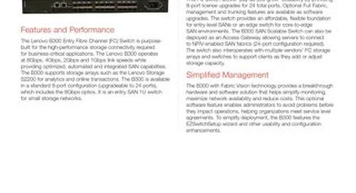 B300 Fibre Channel Switch