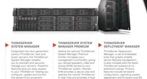 ThinkServer System Manager and Deployment Manager