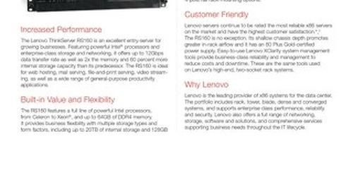 ThinkServer RS160