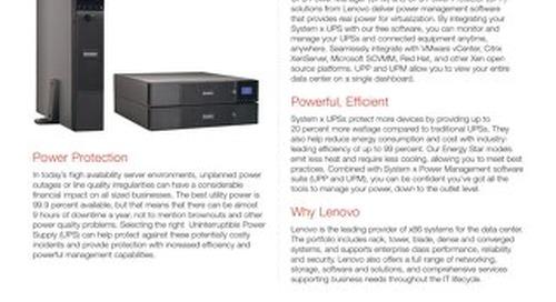System x 1500VA, 2200VA and 3000VA Rack or Tower UPSs