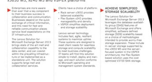Lenovo Solution for Microsoft Exchange Server 2013