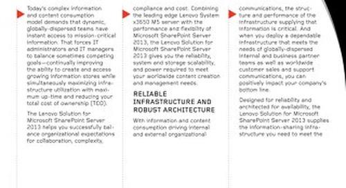 Lenovo Solution for Microsoft SharePoint Server 2013