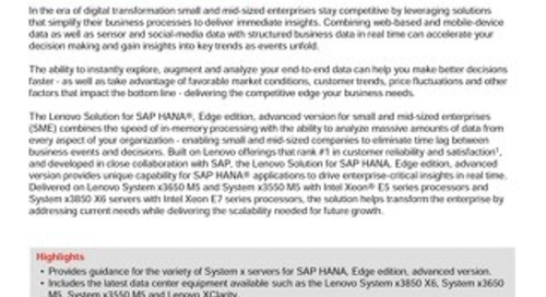 Lenovo SAP HANA Edge Solution Brief